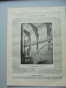 1894 15a London Imperal Institute Constantin Lipsus-afficher Le Titre D'origine Pour ExpéDition Rapide