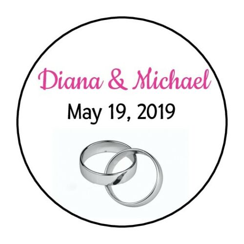 30 bridal shower stickers wedding anniversary favors round party silver rings