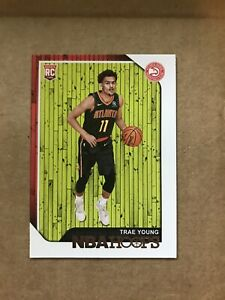 2018-19-NBA-Hoops-Trae-Young-RC-250-Rookie-Card-Panini-Atlanta-Hawks-b