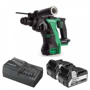 HITACHI-DH18DBL-JP-18V-BRUSHLESS-SDS-PLUS-ROTARY-HAMMER-2-5AH-LI-ION-BATTERIES