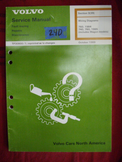 Volvo Factory Manual  Tp30800  1  1984  1985  Wiring