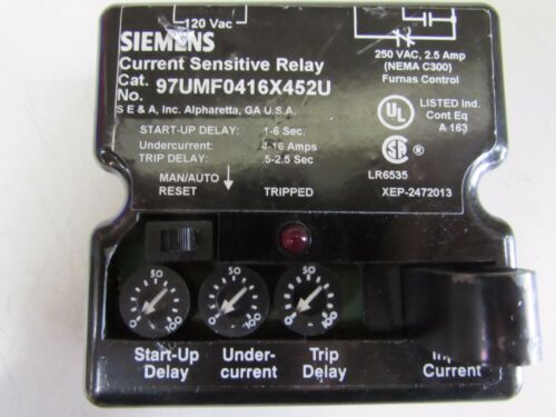 SIEMENS 97UMF0416X452U CURRENT SENSITIVE RELAY 4-16AMP NEW SURPLUS NO BOX M//O!!