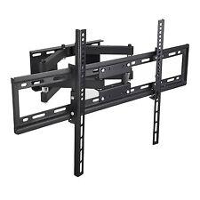 """Flat Panel TV Wall Mount Full Motion Tilt Swivel LCD LED 32""""-65"""" Dual Arm"""