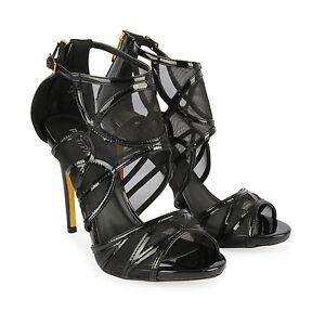 411d0df0571a Women s High Heel Stiletto Ladies Caged Sandals Zip Up Gladiator ...