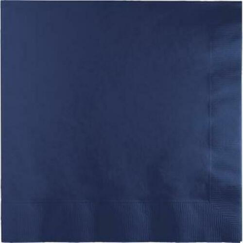 Navy Blue Beverage Napkins 50 Per Pack