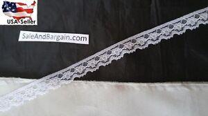 10-y-WHITE-floyal-narrow-EDGE-BRIDAL-doll-lace-trim-1-2-034-L2-11-SHIP-FROM-USA