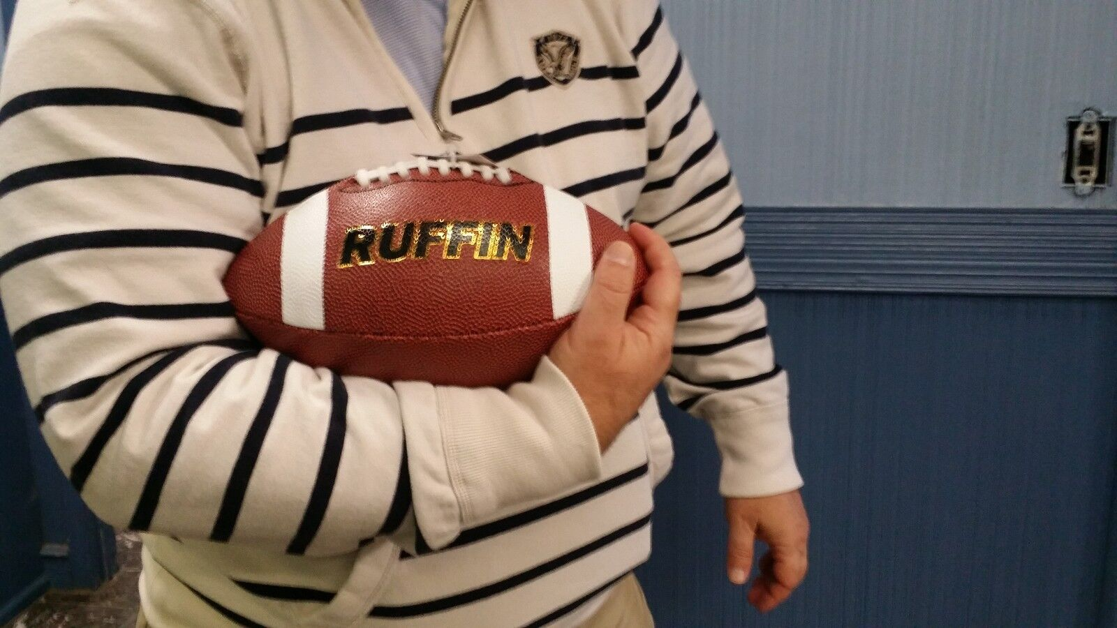 LOT OF 8 RUFFIN FOOTBALL LEATHER GRAIN COLLEGE HIGH SCHOOL PRO BALL