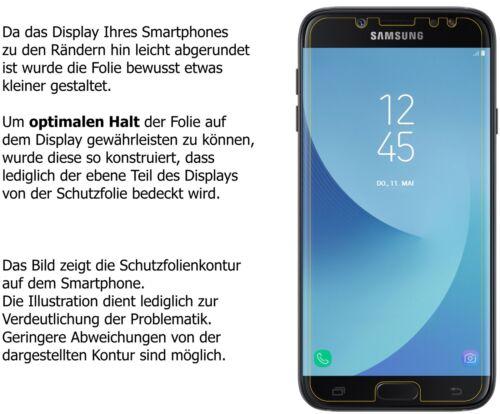 2x Samsung Galaxy J7 2017 Protector de Pantalla protectores mate dipos