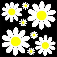 Daisy Flower Set - car sticker decal flower graphic transfer camper retro art VW