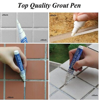 Brilliant Tile Grout Whitening Pens Easy Refresh Restore Kitchen Shower Bathroom Tiles Ebay Interior Design Ideas Philsoteloinfo