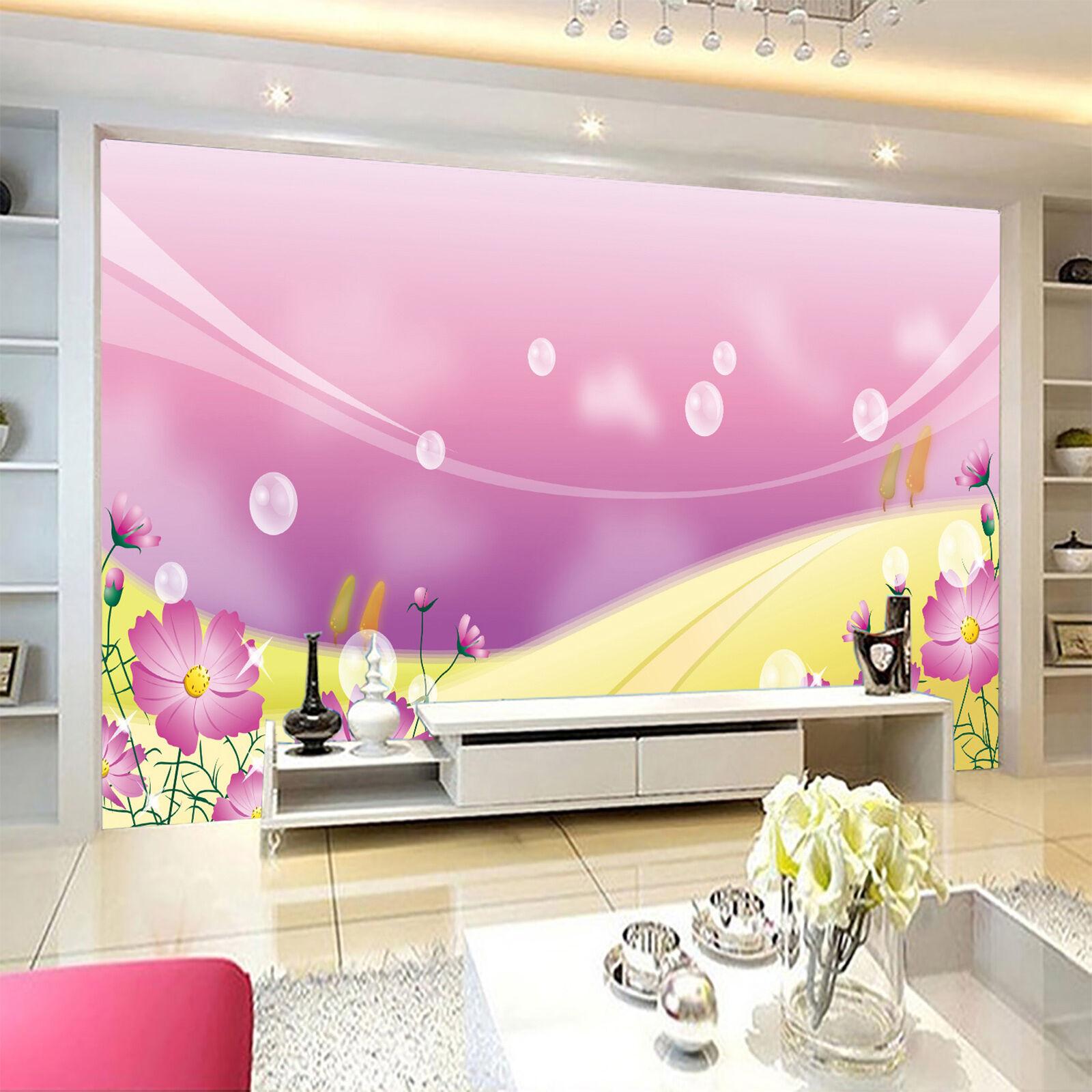 3D lila Transparent bubbles Wall Paper Print Decal Wall Wall Wall Deco Indoor wall Mural 1691e1