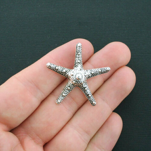 BULK 20 Large Starfish Charms Antique Silver Tone SC4311