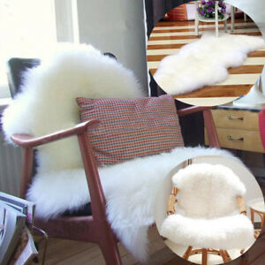 Image Is Loading Soft Sheepskin Chair Cover Home Sofa Warm Hairy