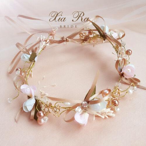 Wedding Bride Bridesmaid Flower Bow Hair Band Headband Hair Accessory Headwear