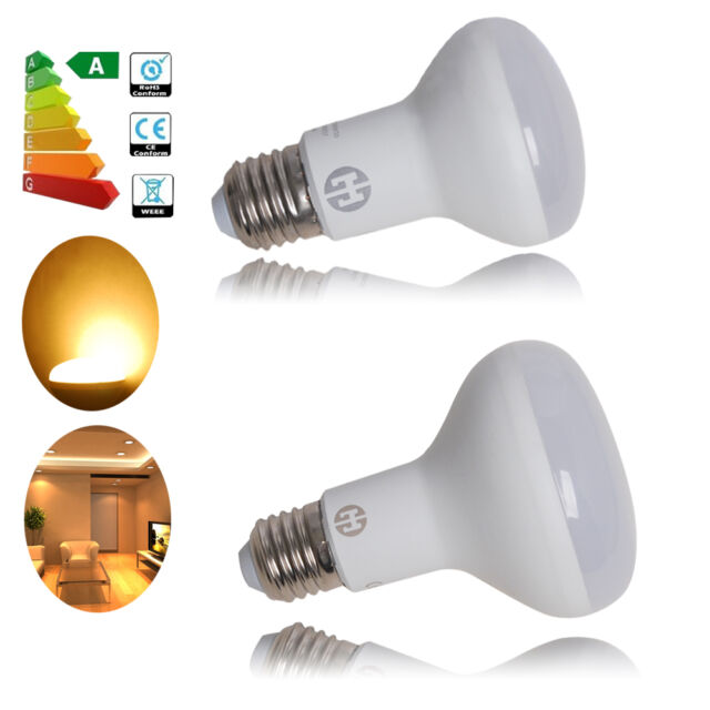 4/10X Dimmable 8W 10W LED Bulb Light Reflector Replacement Warm White R63 R80 ES
