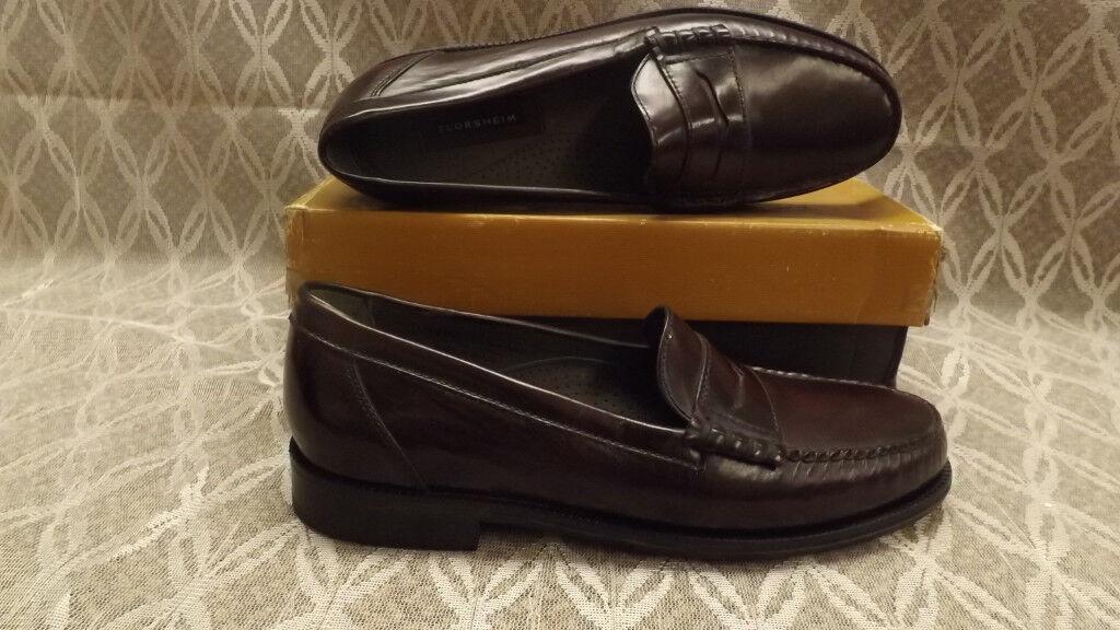 Florsheim Victor Burgundy Slip-on Penny Loafer Scarpe NIB sz 11.5 D