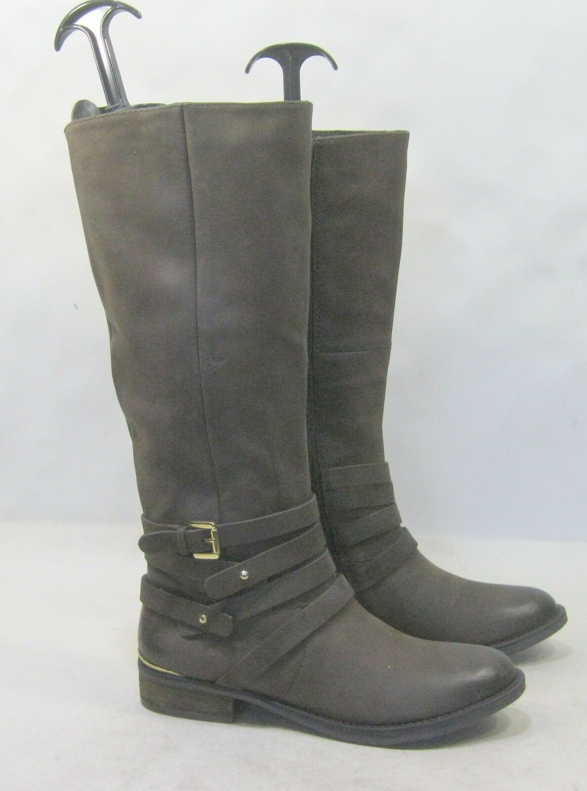 Steve Madden Brown Low Heel Round Toe Comfortable Pelle Knee Boot Size 7.5
