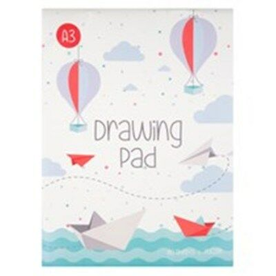 2 x Pads of A3 Sketch Drawing Book 80 Sheets Artist Pad 70gsm White Paper
