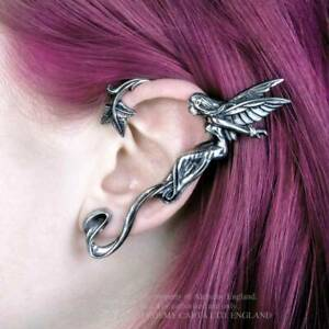 Alchemy-Fairy-Grove-Left-Ear-Wrap-Pewter-Earring-Gothic-Jewellery-Gift-Fantasy