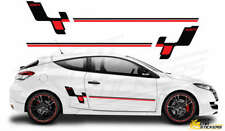 RS103 RENAULT MEGANE RACING SIDE STRIPES GRAPHIC DECAL STICKERS