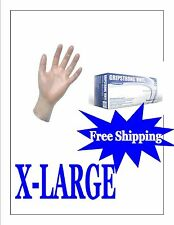 1000 Vinyl Disposable Gloves Powder Free (FOOD SERVICE) X-LARGE- FREE SHIPPING