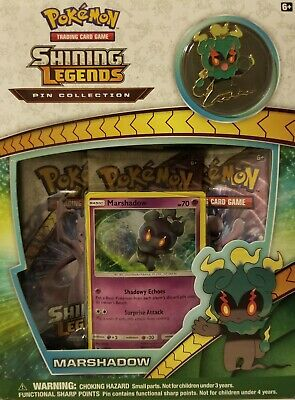POKEMON TCG Shining Legends Pin Collection Marshadow Sealed MISB