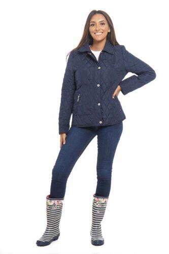 Arctic Storm Ladies Amy Lightweight Showerproof Quilted Navy Coat Jacket 3657