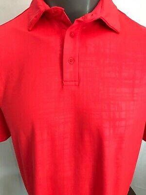 Under Armour HeatGear Mens Large Red Geometrics Polo Shirt ...