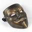V For Vendetta Bronze Movie Resin Masks Cosplay Guy Fawkes Anonymous Halloween