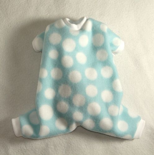 XS Blue and White Cozy Fleece Dog Pajamas clothes PJS pet apparel  PC Dog®