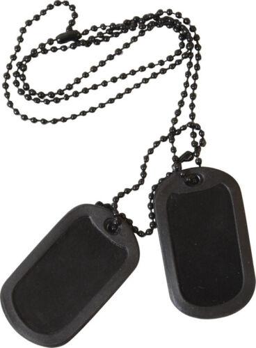 MILITARY DOG TAG ID US STYLE BLACK ARMY SAS