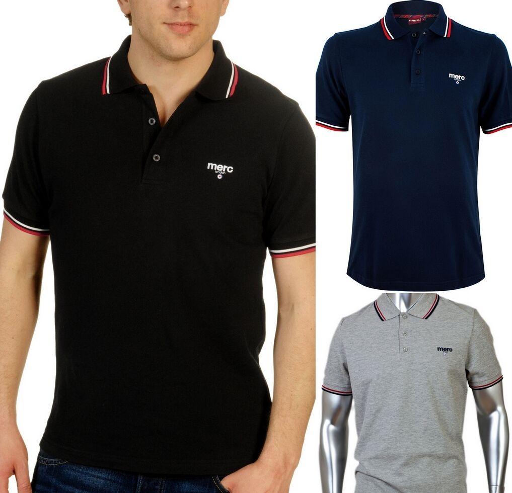 Polo Merc Jersey T-Shirts logo auf der Vorderseite und Retro 100% authentisch