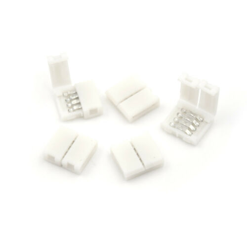 5//10pcs 5050 3528 RGB LED Strip Light Connector Adapter Cable Clip Solderless SP