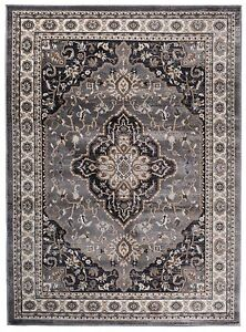 traditional klassischer orientteppich perser vintage teppiche grau ebay. Black Bedroom Furniture Sets. Home Design Ideas