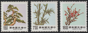 467C-CHINA-TAIWAN-1988-PINE-BAMBOO-amp-PLUM-III-SET-FRESH-MNH-SG-CAT-3-25-3