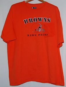 NFL Football Cleveland Browns Dawg Pound Mens T Shirt Orange XL ... cc59ce46e