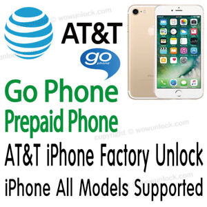 Details about AT&T Unlock Service GoPhone Prepaid ATT iPhone 6 6+ | 6S 6S+  | 5S 5C 5