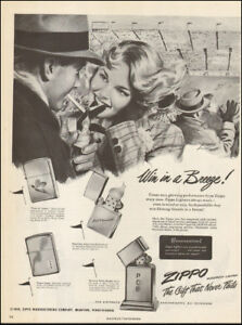Image Is Loading 1950 039 S Vintage Ad For Zippo Lighter
