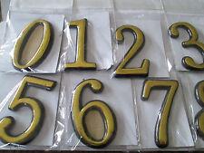 Zahlen Zimmer / Hausnummer goldene  Zahl für glatte Flächen ca 5 cm  siehe Fotos