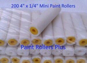 200-Mohair-Mini-Paint-Rollers-4-034-x-1-4-034-SOLVENT-RESISTANT