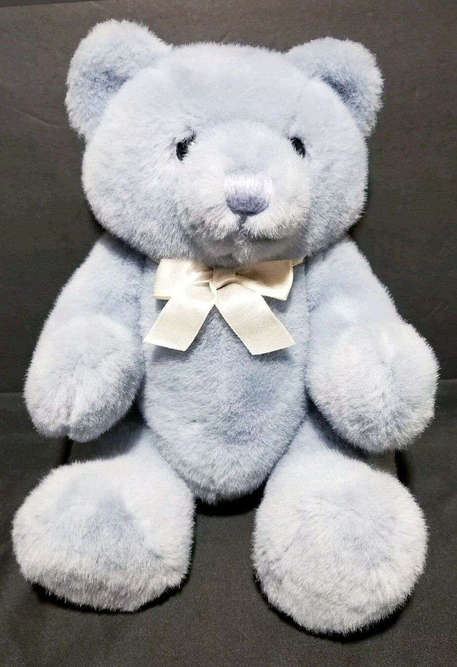 Vintage DAKIN Teddy Bear Blau Lavender 13  Plush Jointed Legs Head Rotates 1989