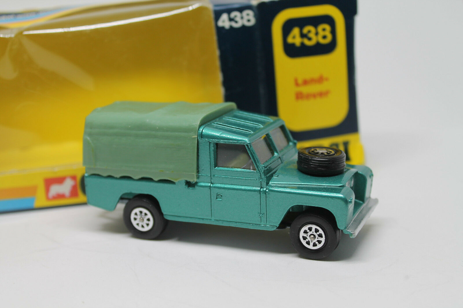 CORGI TOYS 438   LAND ROVER  1 43  ORIGINAL  OVP  TOP