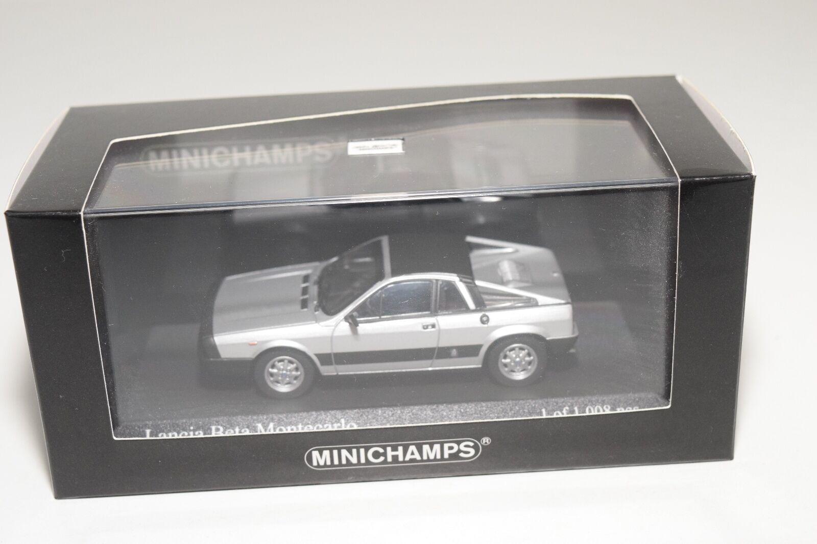 . . . MINICHAMPS LANCIA BETA MONTECARLO 1980 plata gris MINT BOXED c70c79