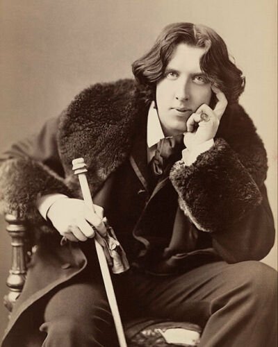 Oscar Wilde Sitzende Sarony Portrait 8x10 Silber Halogenlampe Fotodruck