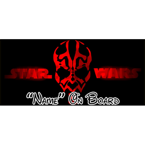 7 Star Wars Personalised Baby On Board Car Sign