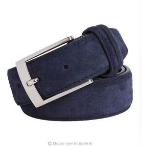 Nouveau-luxe-en-daim-cuir-ceintures-pour-hommes-Tige-Metallique-Boucle-Ceinture-Homme