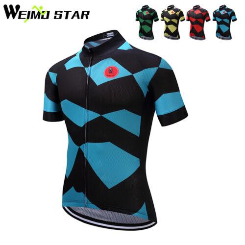 WEIMOSTAR Men's Pro Team Cycling Jersey MTB Bike Shirts Sports Short Sleeve Tops