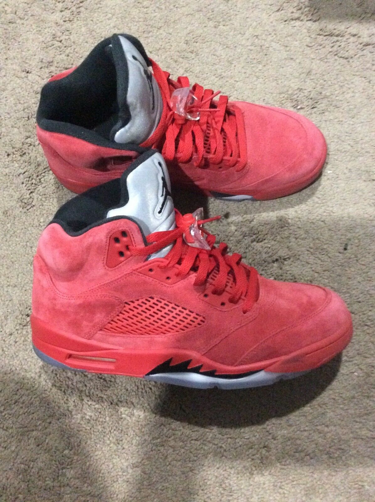 Mens Air Jordan 5 Retro Red Suede & Wolf Grey University Red Brand New Size 11