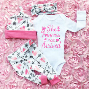 Details about UK Stock Newborn Baby Girls Tops Romper Floral Pants Outfits  Set Clothes 0-24M