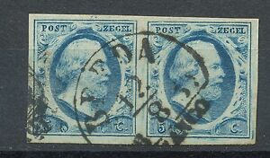 Nederland-1-gebruikt-paar-Plaat-II-positie-54-55-met-stempel-BREDA-B